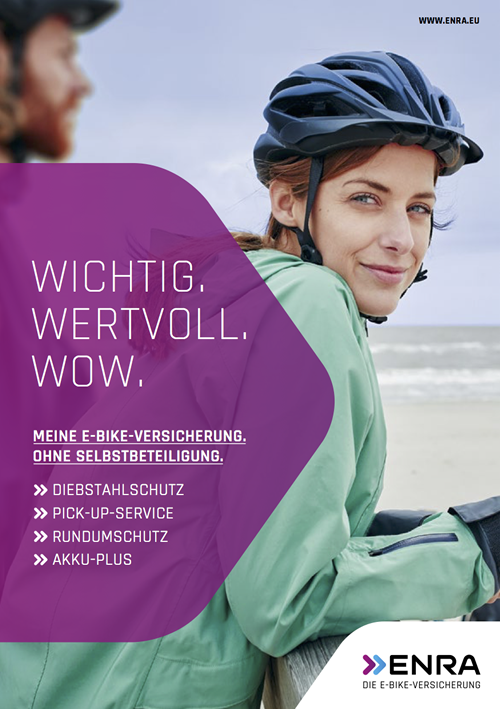ENRA EBIKE Versicherungs-Flyer